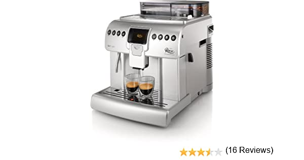 Saeco Royal HD8930/47 - Cafetera (Independiente, Máquina espresso, 2,2 L, Molinillo integrado, 1400 W, Plata): Amazon.es: Hogar