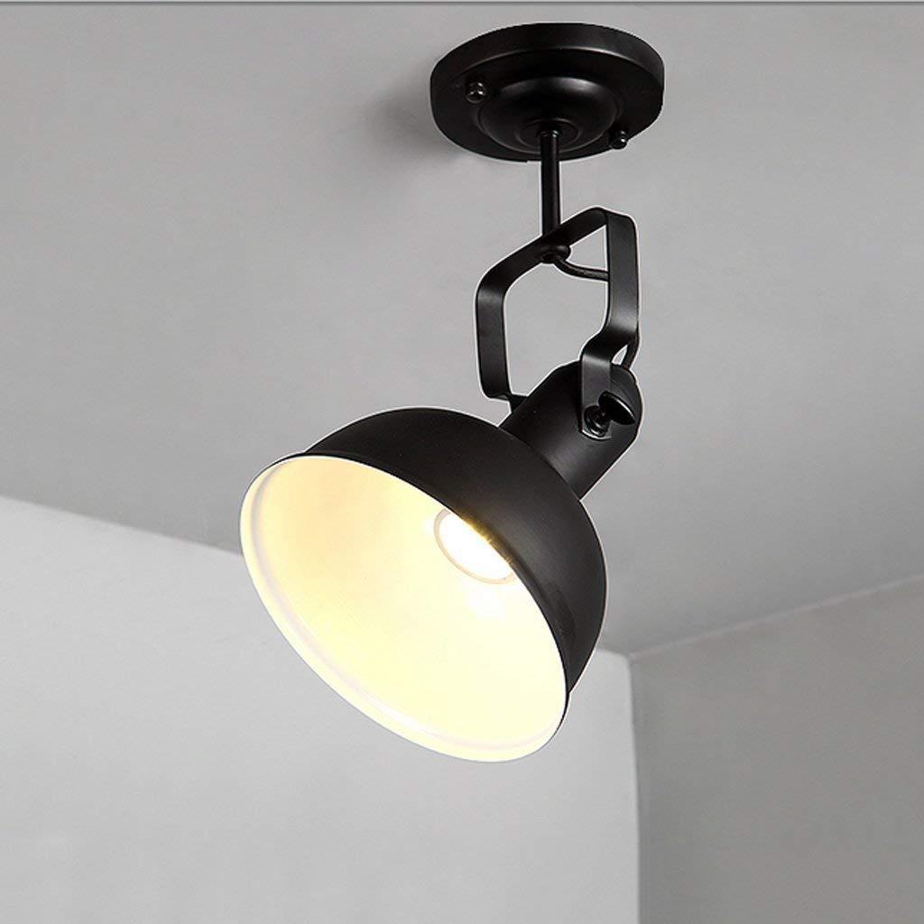 in vendita online GCCI GCCI GCCI Industrial Thing Loft Retro Lamp Bar Negozio di Abbigliamento Cafe Bar LED Torcia di Spot Table of Ceiling,Testa Singola Nera  prima qualità ai consumatori