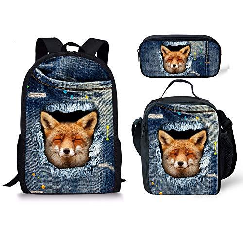 Chaqlin Fox Cartable 3pcs 1 Noir Fox Moyen 5 7gZxfq7