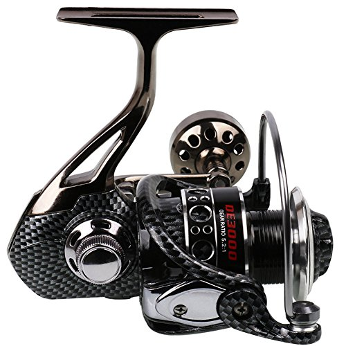 Sougayilang Fishing Reel Double Bearing Light Smooth Casting 5.2:1 Collapsible Handle Spinning Reels (DE6000)