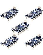 Longruner 5 Pièces Mini Nano V3.0 ATmega328P 5V 16M Micro Contrôleur Module Board Compatible avec Arduino IDE