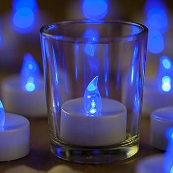mars blue flameless candles flickering tea lights led candle tealight free fake. Black Bedroom Furniture Sets. Home Design Ideas