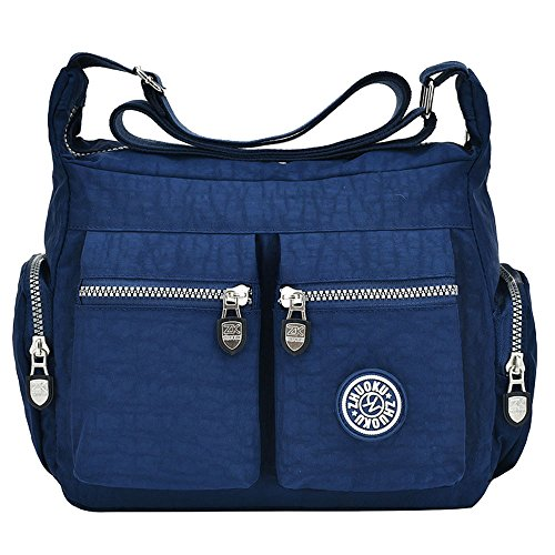 D Patterned Women Crossbody Girls For Bag Nylon Shoulder Messenger Blue Ladies Bag Deep Tibes Blue Bag 6Cdwq11
