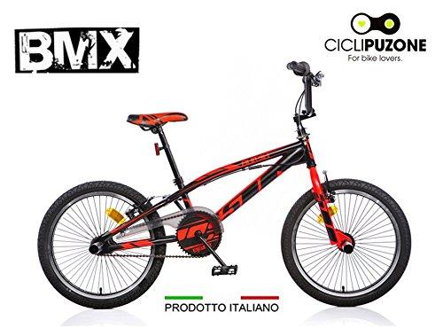 Fahrrad 20 BMX Aurelia schwarz fluo