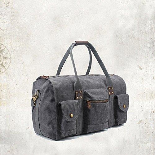 Ybriefbag Unisex Canvas Traveling Bag, Retro, Large Capacity Traveling Bag, Canvas Hand-held Men's Traveling Bag. Vacation by Ybriefbag (Image #1)