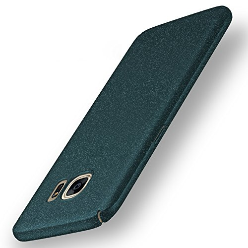Anccer Samsung Galaxy S7 Case [Colorful Series] [Ultra-Thin] [Anti-Drop] Premium Material Slim Full Protection Rock Sand Matte Shield Cover (Not fit for Galaxy S7 edge)-Gravel Green