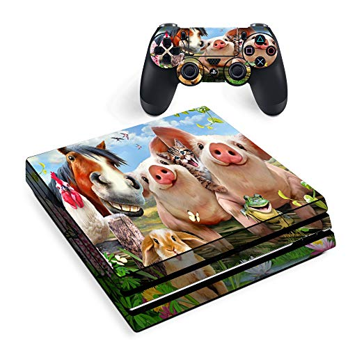 Petting Zoo Farm Selfie - Skin Decal Vinyl Wrap for Playstation PS4 Pro Console & Controller stickers skins cover ()