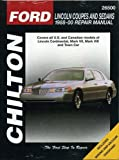 Lincoln Coupes and Sedans, 1988-00 (Haynes Repair Manuals)