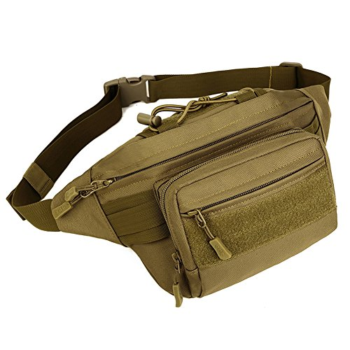 CREATOR Waist Bag Outdoor Portable Sport Military Tactical Waist Pack Fanny Packs Bumbag for Climbing Hiking Trekking