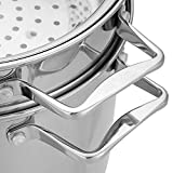 Hamilton Beach 8.5 Quart Stainless Steel 4 Piece Multi Cooker Stock Pot Set