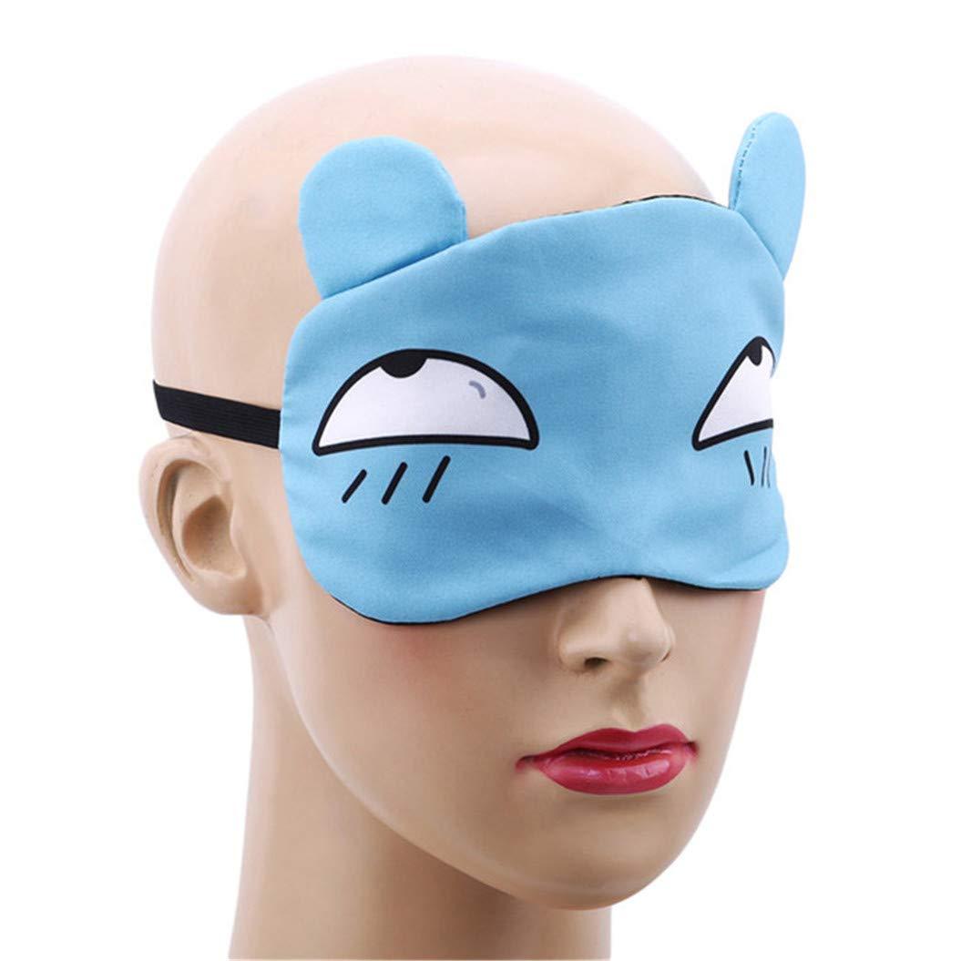 LZIYAN Sleep Masks Cartoon Sleep Eye Mask Soft Cute Eyeshade Eyepatch Travel Sleeping Blindfold Nap Cover,Blue by LZIYAN (Image #4)