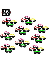 36 Pack 80's Style Neon Party Sunglasses - Fun Gift,...