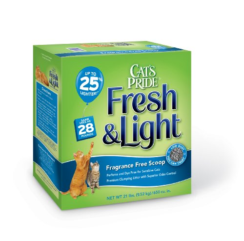 Cat's Pride Fresh and Light Fragrance Free Premium Clumping Cat Litter Box, 21-Pound, My Pet Supplies