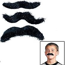 Fun Express Black Hairy Mustaches Self-Adhesive Fake Mustache (36)