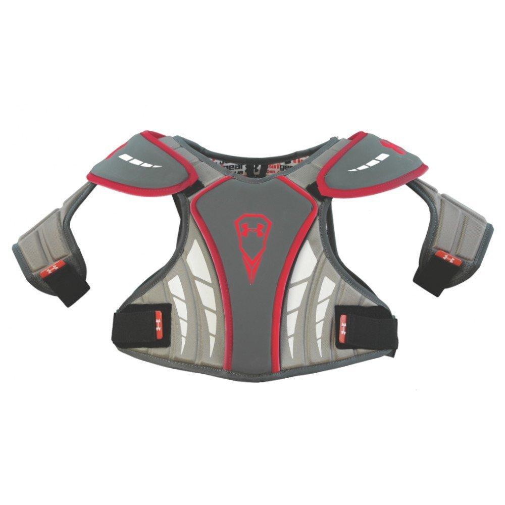 sports shoes fc52a 7c5e9 Amazon.com   Under Armour Men s Lacrosse Strategy Shoulder Pads Grey Size  Medium   Sports   Outdoors