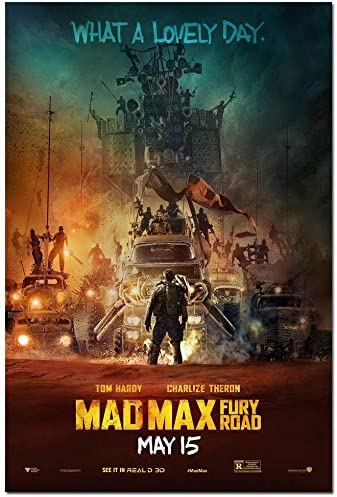 Amazon Com Fit You Mad Max Fury Road 2015 Movie Art Canvas Poster Print Home Living Room Decoration 01 Posters Prints