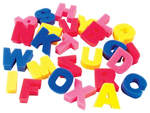 "Price comparison product image Chenille Kraft CK-9065 Sponge Capital Letters, 1"" Height, 13.1"" Wide, 12.5"" Length (26 Peices)"