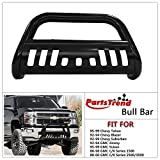 1998 chevrolet bull bar - PartsTrend Bull Bar Black Front Bumper Guard Compatible with 88-00 Gmc C/K 1500/2500/3500 Grill Grille Guard
