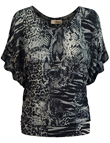 HyBrid & Company Womens Boat Neck Dolman Top Shirt KT44130 2016 Grey Large
