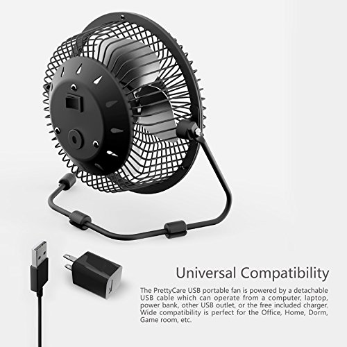 Attractive PrettyCare USB Desk Fan (Powerful Airflow/ A Free Adapter) Personal Mini Fan  U2013 Small Table Fan With Pedestal/ Air Radiator For Laptop, Quiet And  Portable ...