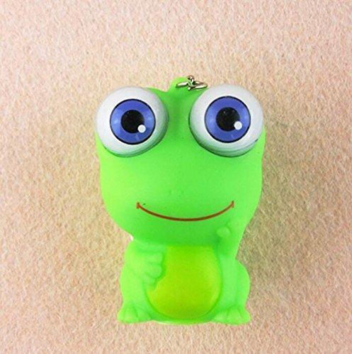 Opcbreath Molto Amato dai Preferiti del Bambino Cartone animato carino occhi grandi animali espressione catena chiave pendente (rana)