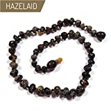 Hazelaid (TM) 11'' Pop-Clasp Baltic Amber Dark Green Necklace