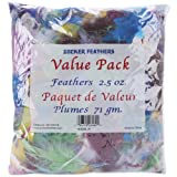 Zucker Feather Products Dyed Feather for Crafts, Assorted