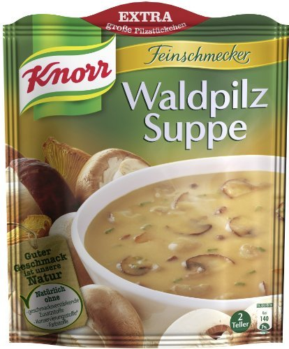 2x Knorr Feinschmecker mushroom soup (Waldpilz Suppe) (Mushroom Knorr Soup)