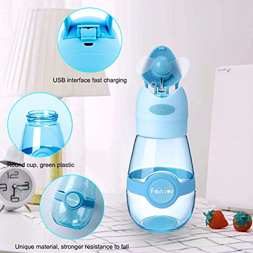 97fb2d530c26 Haiesee New Mini Fan Outdoor Portable Bottles Sport Beach Camp Fashion  Travel Gift, Fan And Cup 2 in 1 Hand held Fan Summer Cool Fan Cup USB  Charging ...
