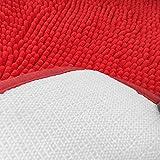 Hughapy Red Non Slip Microfiber Carpet/Doormat