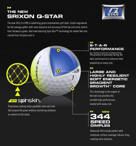 Srixon Men's Q-Star Golf Balls (1-Dozen)