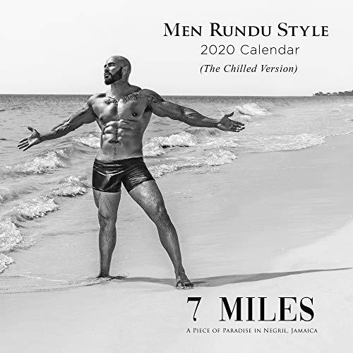 2020 Rundu Nude Male Wall Calendar and Bonus DVD - Monthly, 12