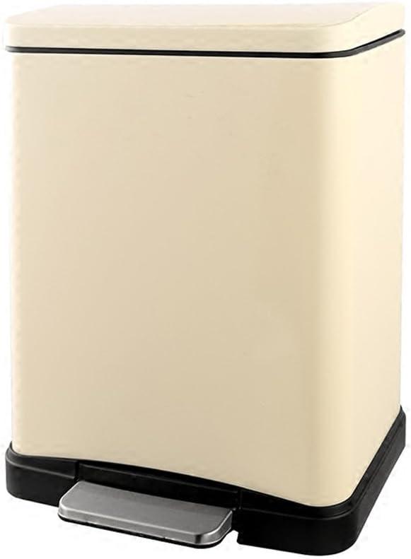 Couleur : Silver Bo/îtes /à ordures en acier inoxydable P/édale Poubelles Bureau de bureau Hygi/ène Barriques Cuisine couverte Cuisine 12L