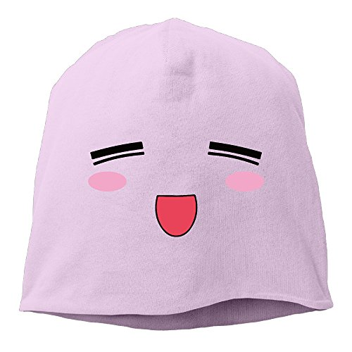 jfd-anime-face-emotion-cuff-beanie-cap-pink