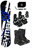 snowboard boots binding package - Symbolic Grom Kids Snowboard Package (110, Bindings & Boots Kids Size 4)