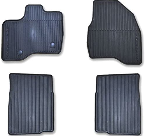 Oem Factory Stock 2011 2012 2013 2014 2015 Ford Taurus Black Ebony Rubber All Weather Floor Mats Set 4-pc Front /& Rear