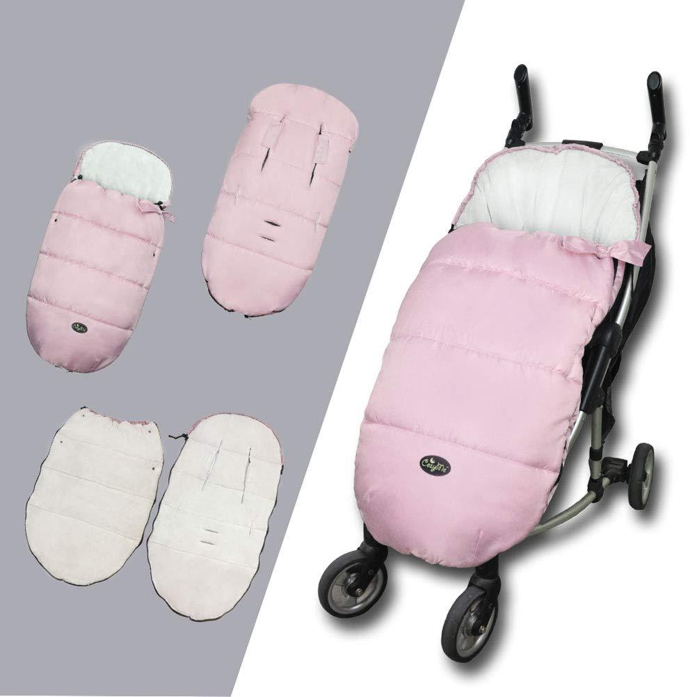 CozyMe Universal Baby Stroller Footmuff Waterproof Bunting Bags,6M to 3 Years,Pink