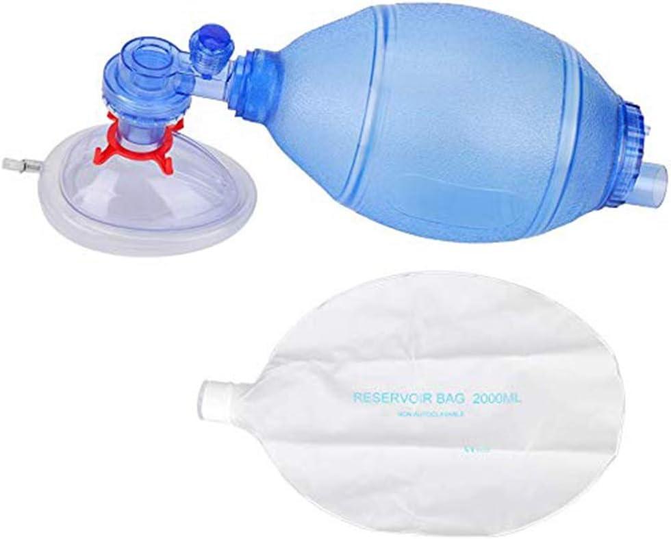 GAOLEI1 Aparato de respiraci/ón Simple Primeros Auxilios Herramienta respiraci/ón eficaz de PVC Transparente para Uso dom/éstico y Profesional Herramienta de reinhalaci/ón Manual para Adultos