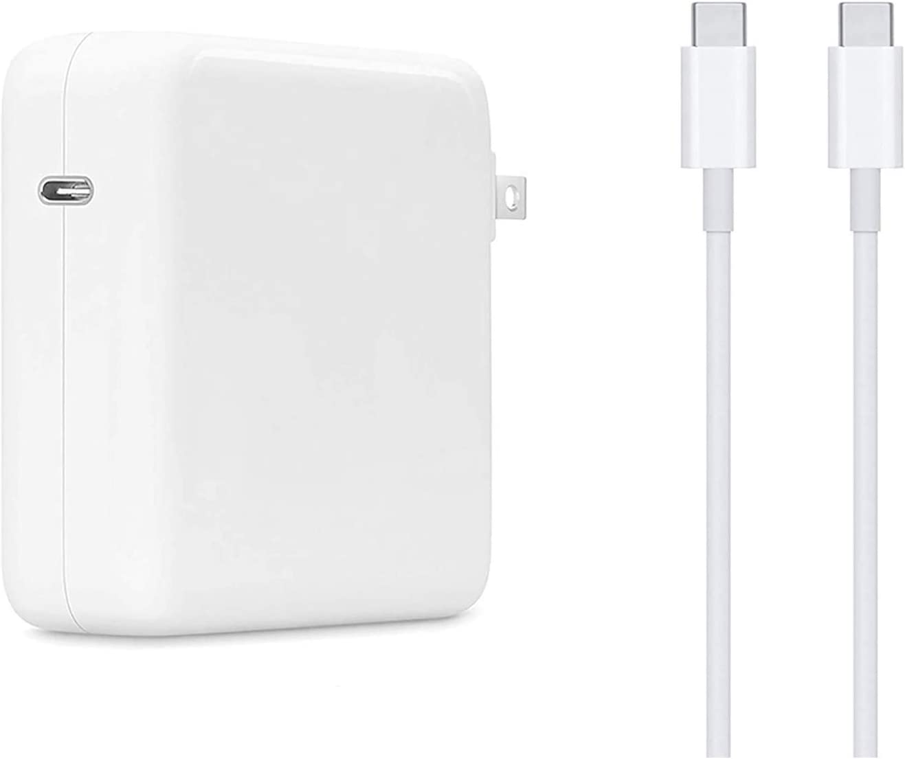 Replacement Mac Book Pro Charger, 61W USB C Power Adapter for MacBook Pro 2016/2017/2018/2019/ 2020, MacBook Air 2018/2020, MacBook 2015/2016/2017, iPad 2018/2020, Included 6.6ft USB-C to C Cable