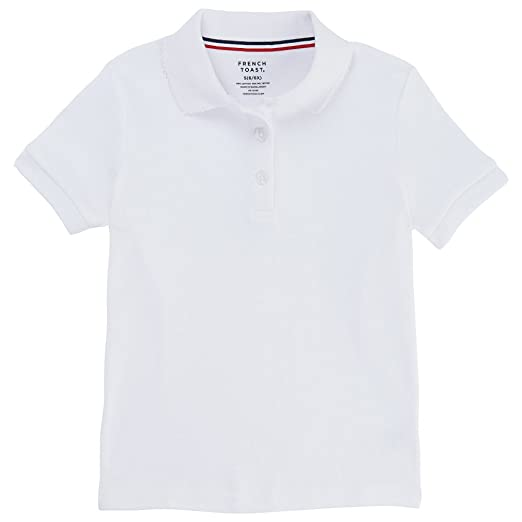 0a1af129 French Toast Big Girls' Plus S/S Fitted Knit Polo With Picot Collar -