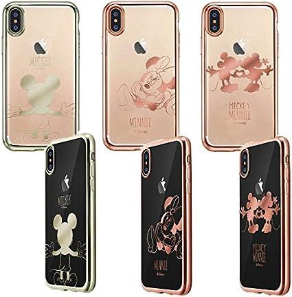 Amazon | iPhoneX iPhoneXS専用 カバー ディズニー ミッキー ミニー ...