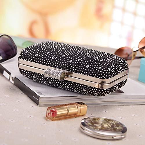 Black Embrague Evening de Color Craft Crossbody Party Bolso Bolso Starry Diamond Black Uzanesx Bag qTRW1wOfc