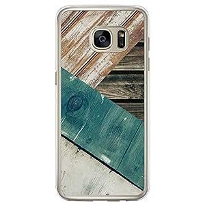 Loud Universe Samsung Galaxy S7 Edge Madala Wood n Wood 13 Printed Transparent Edge Case - Multi Color