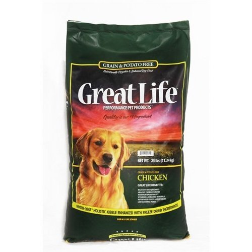 Great Life Grain and Potato Free Dog Food, Chicken Formula, 25-Pound by Great Life