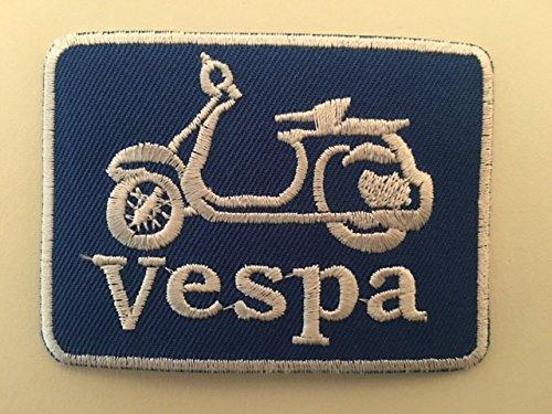 /Vespa Scooter 7,5/x 5,5/cm toppa termoadesiva/ BLUE HAWAI Toppa termoadesiva