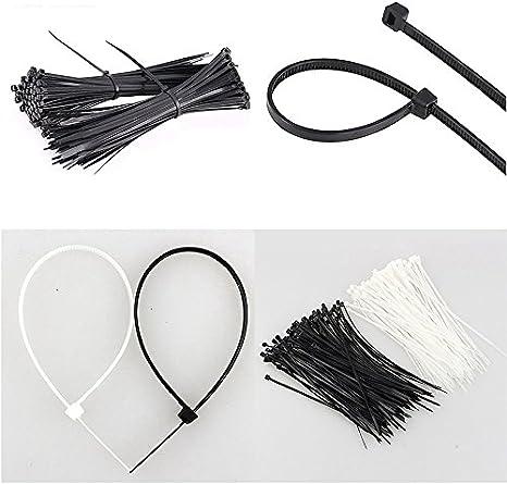 Blanc Kentop Serre-C/âbles Electrique Cable Attache enveloppe Nylon Fixation Attache de Cable Cable Ties Serre c/âbles 100PCS