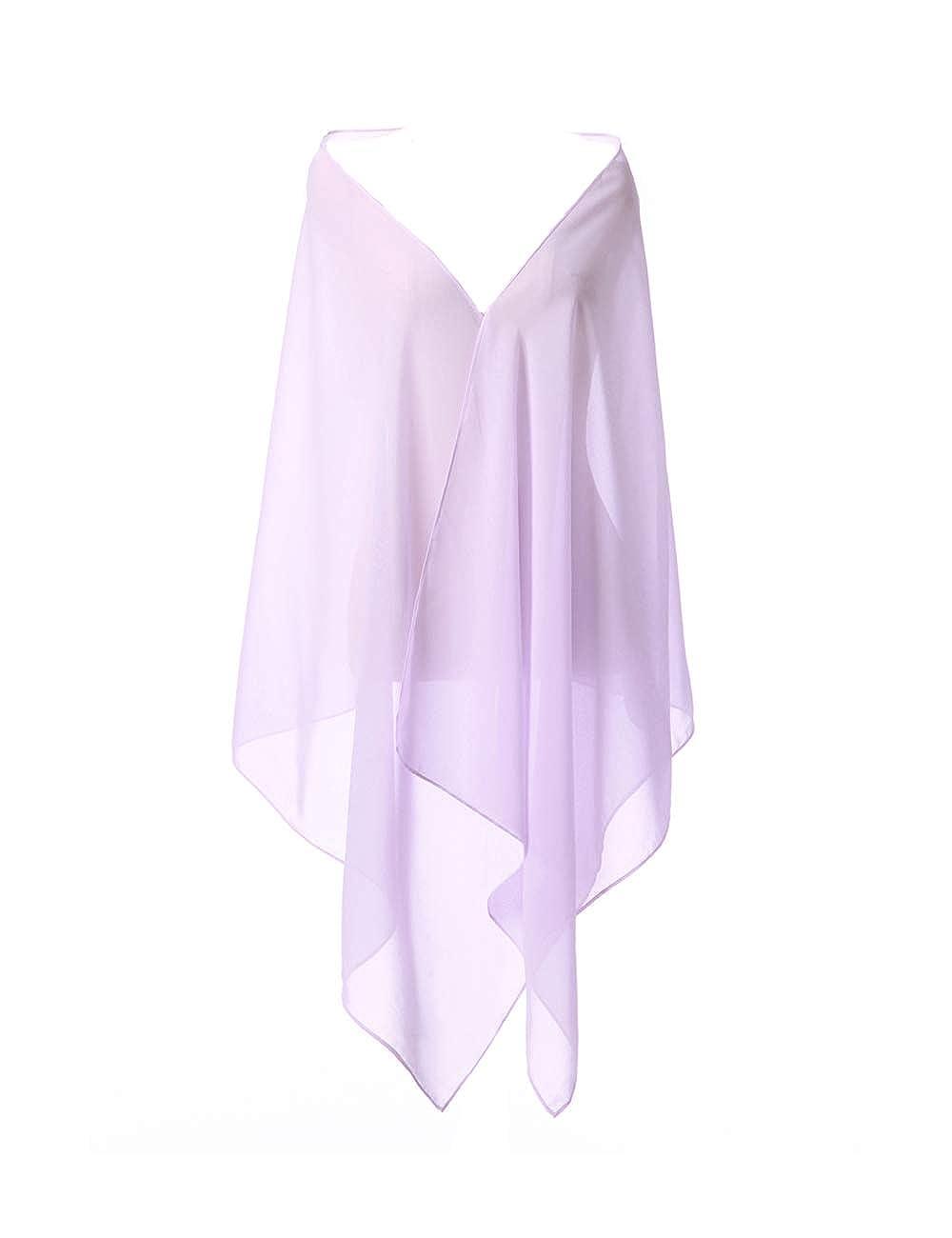 adatta a qualsiasi abito da sposa CoCogirls Stola in chiffon per abiti in diversi colori da gala o ricevimento azzurro Taglia unica da sera da matrimonio