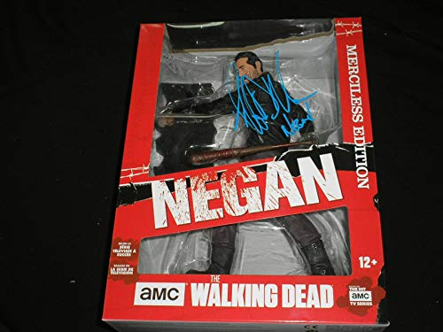 "JEFFREY DEAN MORGAN Signed Mcfarlane Negan 10"" Deluxe Action Figure Autograph Walking Dead BECKETT COA"