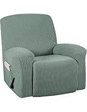 TURQUOIZE Stretch Recliner Chair Cover Recliner Covers Slipcovers 1-Piece Durable Soft Jacquard Sofa Furniture Cover Form Fit Stylish Recliner Slipcover/Protector, Machine Washable