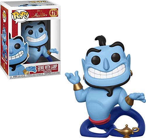 Funko 35757  Pop! Disney: AladdinGenie with Lamp, Multicolor